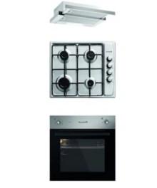 Set Cuptor Incorporabil Hausberg HB-8043 +Plita incorporabila HB555+ Hota Inox HB1285