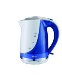 Cana electrica ZILAN ZLN-1303, Capacitate 1.7L, 1850-2200W, Baza rotativa, Albastru/Verde/Rosu
