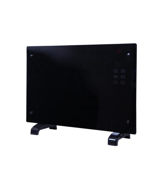 Panou de incalzire din sticla termorezistenta Zilan ZLN-1419, negru, instalare pe podea sau pe perete