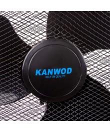 Ventilator cu picior Kanwod, 45W, 3 trepte viteze, ∅40 cm, miscare oscilanta, inaltime reglabila, 100-127 cm, Negru, FD-40B
