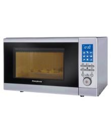 Cuptor cu microunde Hausberg HB-8007, 20 l, 800 W, Digital, Grill, Sistem siguranta pentru copii, Gri