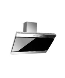 Hota incorporabila decorativa Hausberg HB-1295, Putere de absorbtie 650 m3/h, 1 motor, 60 cm, Filtru aluminiu, Negru/Argintiu