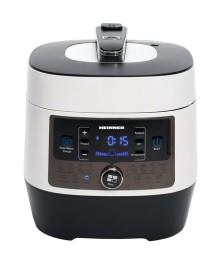 Multicooker cu gatire la presiune Heinner HPCK-6WH, 4.5 L, 14 programe, vas antiadeziv detasabil, Timer, presiune reglabila, display LED, Alb
