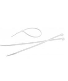 Colier plastic (bride) albe, 2,5 mm x 100 mm, 100 bucati, Tolsen 50105