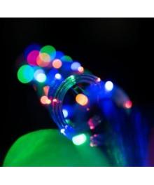 Instalatie Craciun Tub luminos LED 13mm, 24LED-uri/m, 10m, multicolor, alimentare inclusa