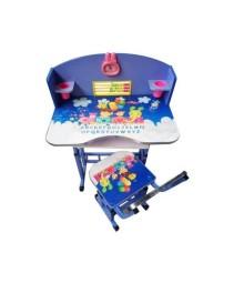 Birou cu scaunel pentru copii, inaltime reglabila , Albastru