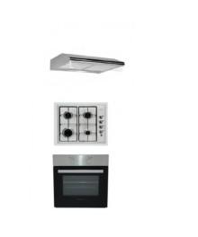 Set Cuptor incorporabil HB 8043+Plita incorporabila HB555+Hota Inox HB1220