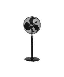 Ventilator cu picior FLORIA ZLN-2324, Putere 40W, Diametru 40 cm, 3 trepte de viteza, Unghi inclinare reglabil, Negru